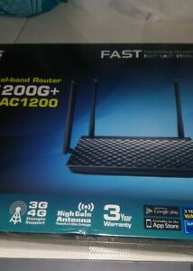 Asus-RT-AC1200G-Dual-band-wireless-AC1200-router-Gigabit-Ethernet-ports-Sealed