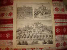 ANTIQUE INDIANAPOLIS NEW ALBANY BEER BREWERY GREEN CASTLE INDIANA PRINT SUPERB N