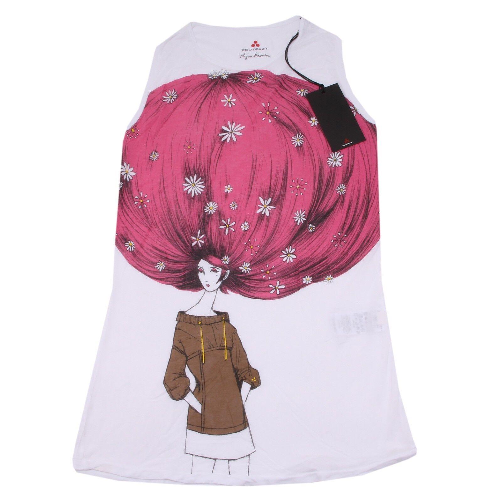 8070P canotta bianca PEUTEREY donna t-shirt donna