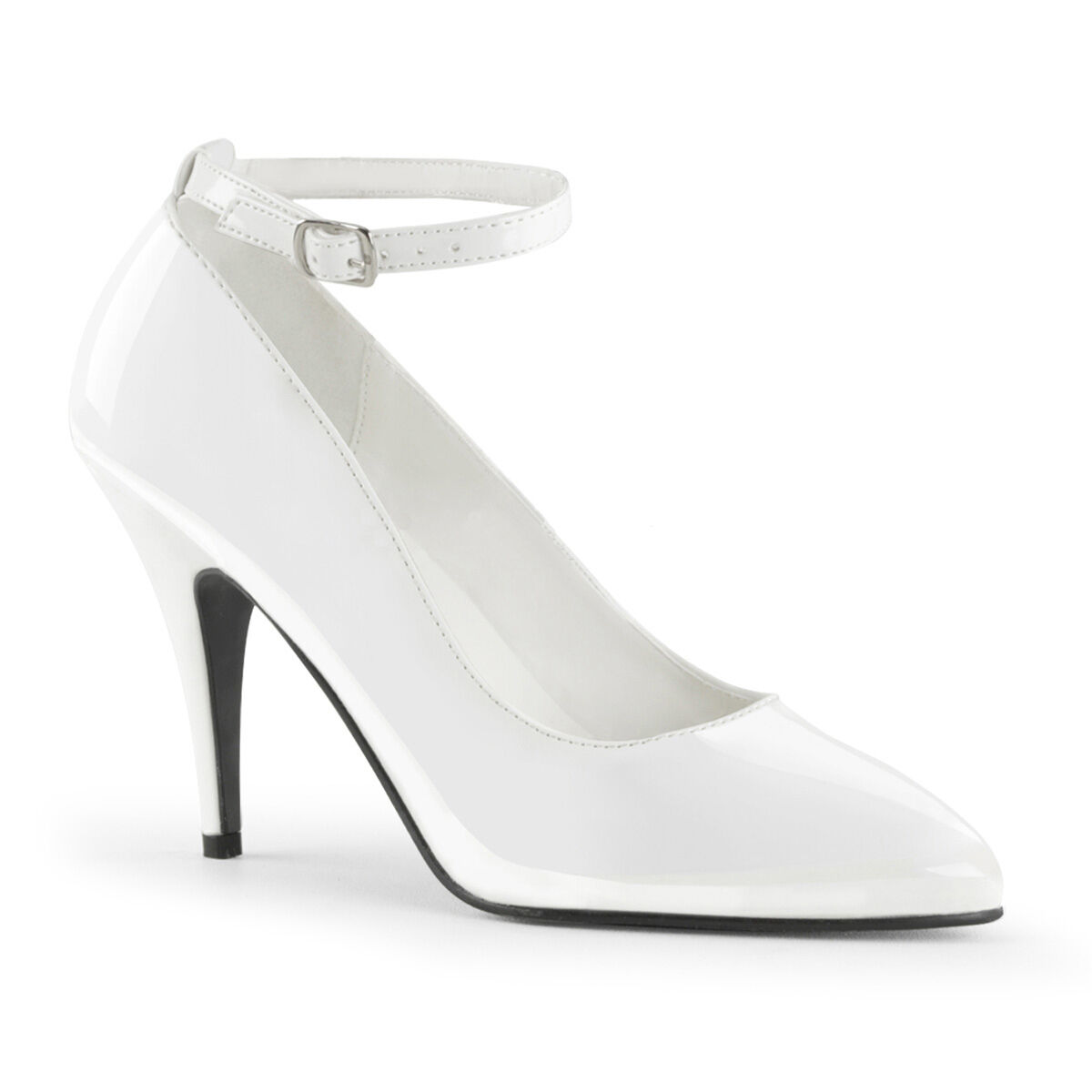 WEISS Ankle Strap Stiletto Heel Schuhes - Sissy Maids - TV/CD In Stock