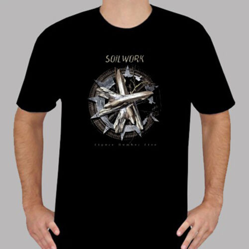 New SOILWORK Figure Number Five Rock Band Men/'s Black T-Shirt Size S to 3XL