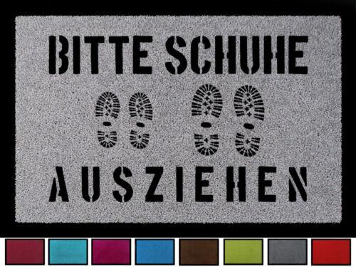 Fussmatte suciedad maletero por favor quítese zapatos 6 hechizo pasillo 60x40cm muchos colores
