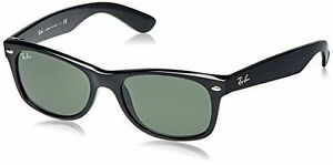 7c66260cc2306 Ray-Ban RB2132 Wayfarer Unisex Sunglasses with Black Frame and Green  Classic Lenses