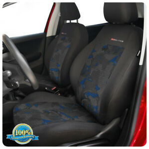 VEST SHAPE 2x red Front seat covers fit PEUGEOT 207