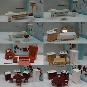 Image Is Loading ALBERON DOLLS HOUSE BATHROOM BEDROOM KITCHEN FURNITURE