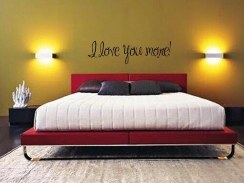 """I LOVE YOU MORE Wall Art Vinyl Decal Lettering Words Sticker Stencil Decor 48/"""""""