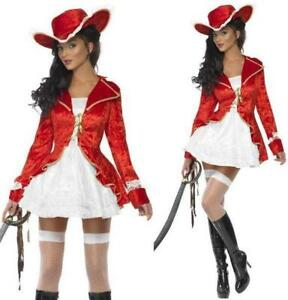 WHITE SIZE 8-18 *** SALE *** FANCY DRESS COSTUME # PIRATE LADY RED