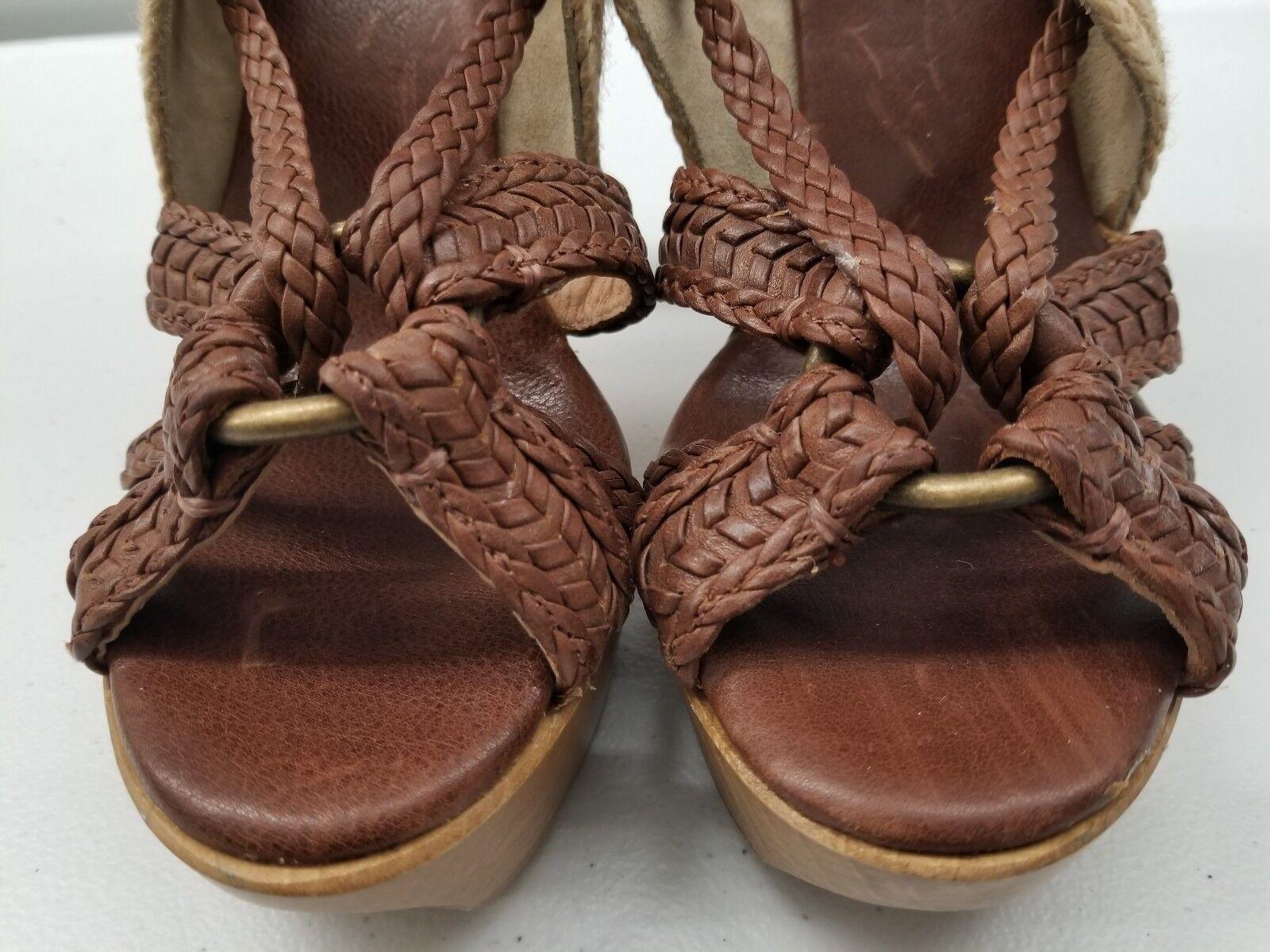 FRYE Huarache Slingback Leather Braided Strap Strap Braided Heels Größe 8B Floor Model 91ae29