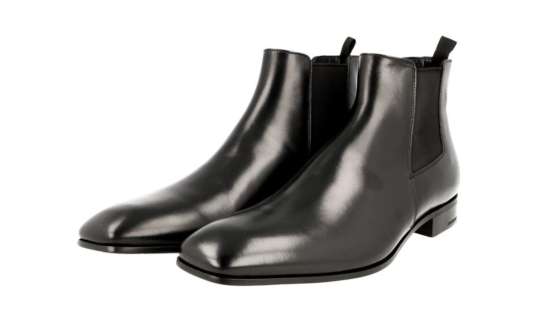 Autorización de lujo clásico Prada Half-Zapatos Bota 2TA044 Negro Nuevo 10,5 44,5 45