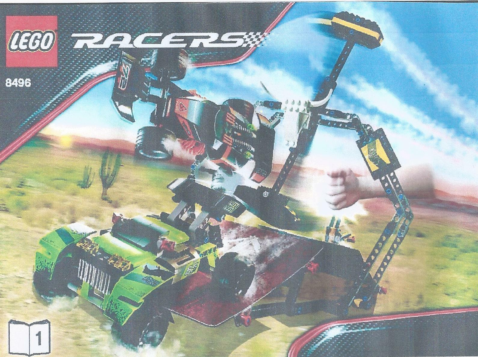 LEGO SET 8496 - DESERT HAMMER (POWER RACERS), Complete and with New Ramps
