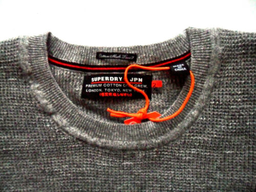 Mens Textured in Granite Girocollo Cotton maglia Premium Grindle City Superdry d7wpI7