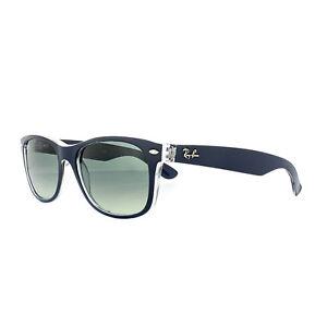 Ray-Ban Sunglasses New Wayfarer 2132 605371 Blue Transparent Grey ... 88b9513ca452