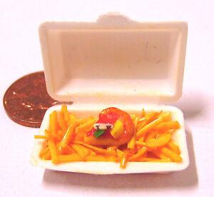 1:12 SCALA togliere Pizza /& Chips Patatine-tumdee casa delle bambole miniatura cibo