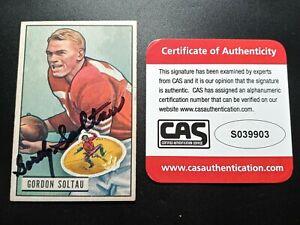 1951 Bowman Gordon Soltau CAS Cert Signed Autograph 49ers Star Rookie Card d.14