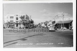 1940-039-S-RPPC-New-Haven-Ave-Downtown-MELBOURNE-FL-Real-Photo-Postcard-Old-Florida