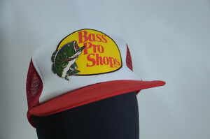 VTG Bass Pro Shop Mesh Snap Back Trucker Cap Hat New Old Stock NWoT ... 7c1844cd784