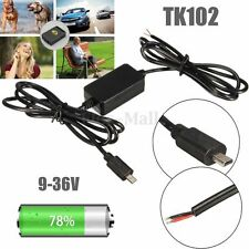TK102 Nano GPS Tracker Hard Wire Vehicle Charger Kit Car Battery Adapter USB GSM