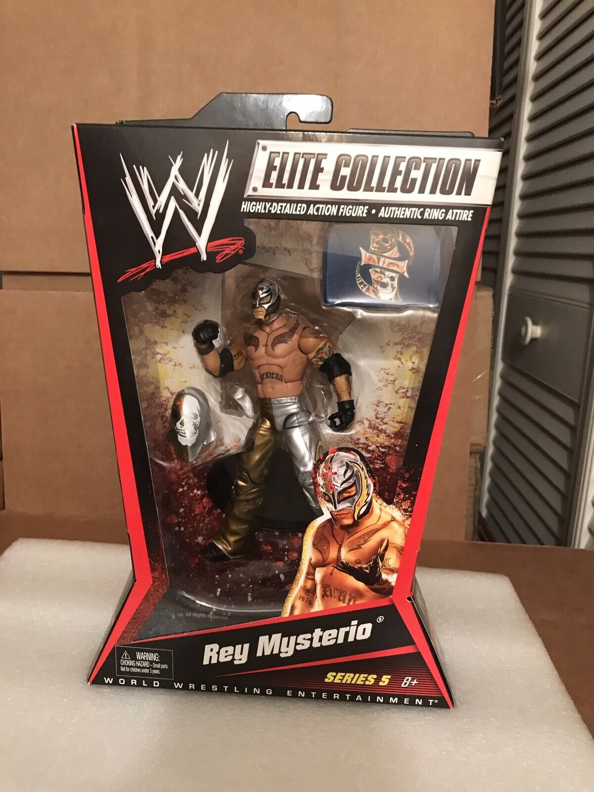 WWE MATTEL Elite Collection Series 5 Rey Mysterio Jr. Gold & Silber WCW 619 NEW