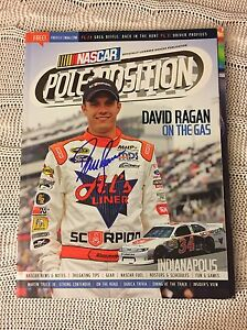 Nascar Pole Position >> Details About Autographed David Ragan Signed Pole Position Magazine Nascar