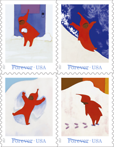 5243-5246a-2017-Snowy-Day-Booklet-Block-4-MNH