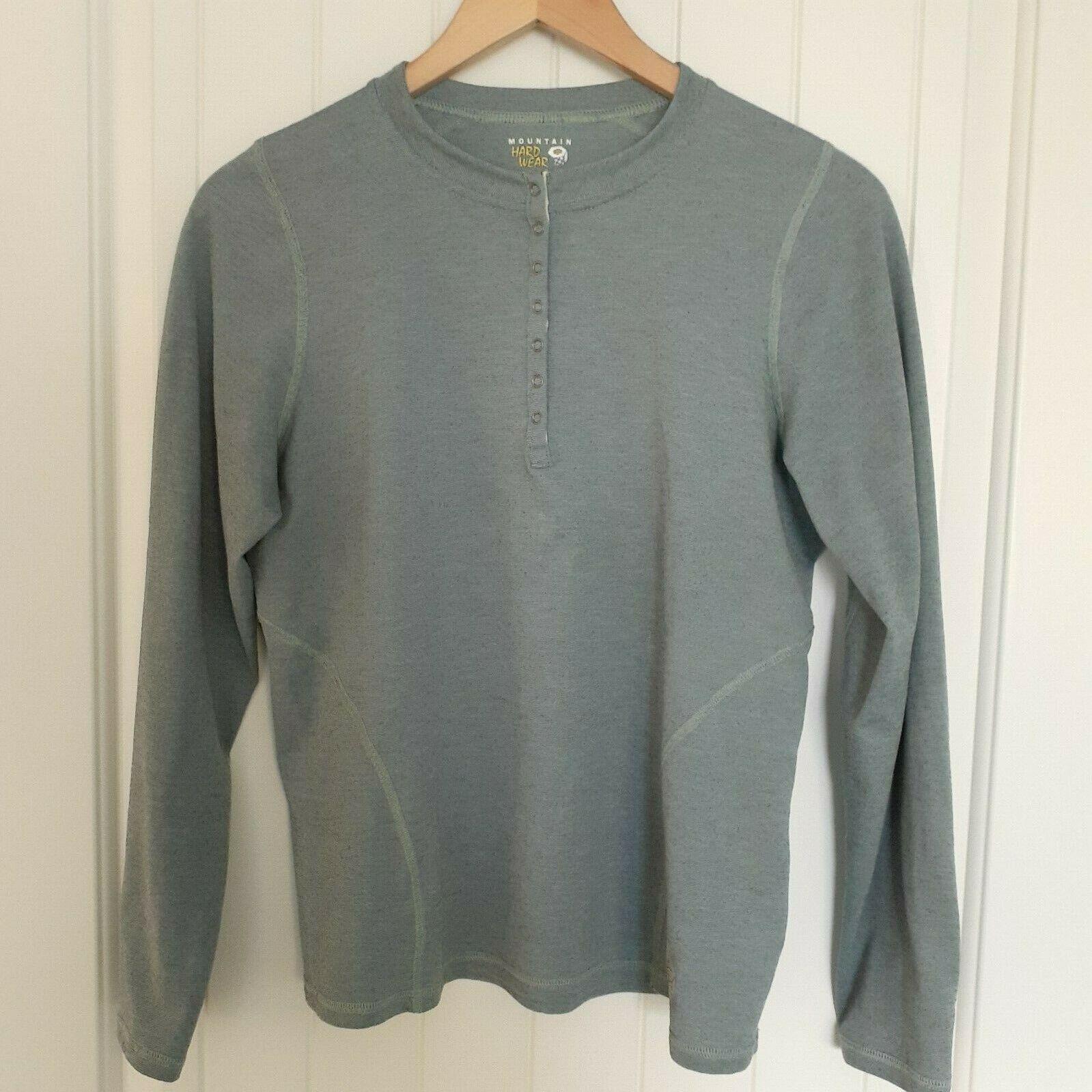 Mountain Hardwear 1/4 Snap Long Sleeve Tee Green Size Medium