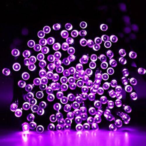 200-LED String Solar Powered Fairy Lights Garden Christmas Tree Decor Purple