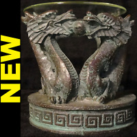 - Green Dragon Oil Incense Burner, Warmer, Diffuser With Glass Bowl