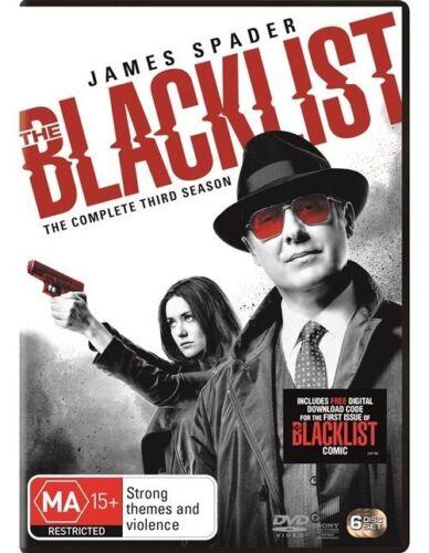 1 of 1 - THE BLACKLIST THIRD SEASON 3 DVD Region 4 BRAND NEW & SEALED!