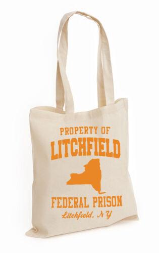 LITCHFIELD PRISON TOP 100/% COTTON TOTE Mulgrew Schilling LITCHFIELD, BAG