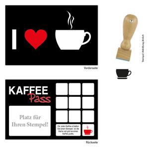 Kaffee-Bonuskarten-Treuekarten-Rabattkarten-Kaffeepass-1-500-Stk-mit-Stempel