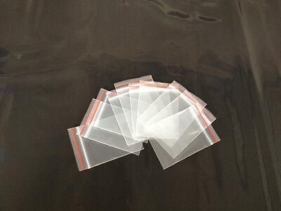 "100pc 4cmx6cm 1.5"" X 2.4"" Ziplock Plastic Poly Clear resealable reclosable Bag"