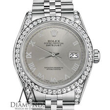 Rolex 26mm Datejust 18KGold Stainless Steel Slate Grey Roman Numeral Dial Watch
