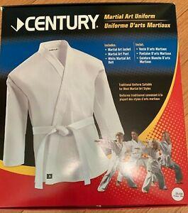 New Karate Uniform SIZE 6 BLACK 6oz Century Martial Art Gi