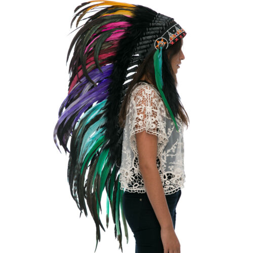CLEARANCE PRICE Long Native American Indian Style Headdress Electric