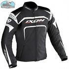 IXON EAGER MOTORCYCLE TEXTILE SUMMER JACKET BLACK WHITE IXEAGERKW **CLEARANCE***