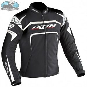 IXON-EAGER-MOTORCYCLE-TEXTILE-SUMMER-JACKET-BLACK-WHITE-IXEAGERKW-CLEARANCE