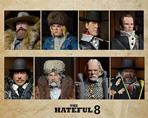 Quentin Tarantino's The Hateful Eight 20cm Clothed Deluxe Action Figure Set