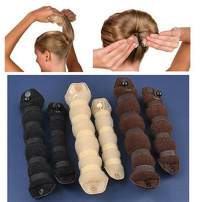 Magic Former Ring Shaper Styler Tool 2pcs Sponge Hair Styling Donut Bun Maker