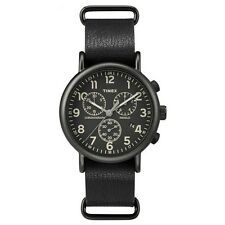 Timex Originals TW2P62200 Weekender Black Strap Chronograph Watch RRP £79.99