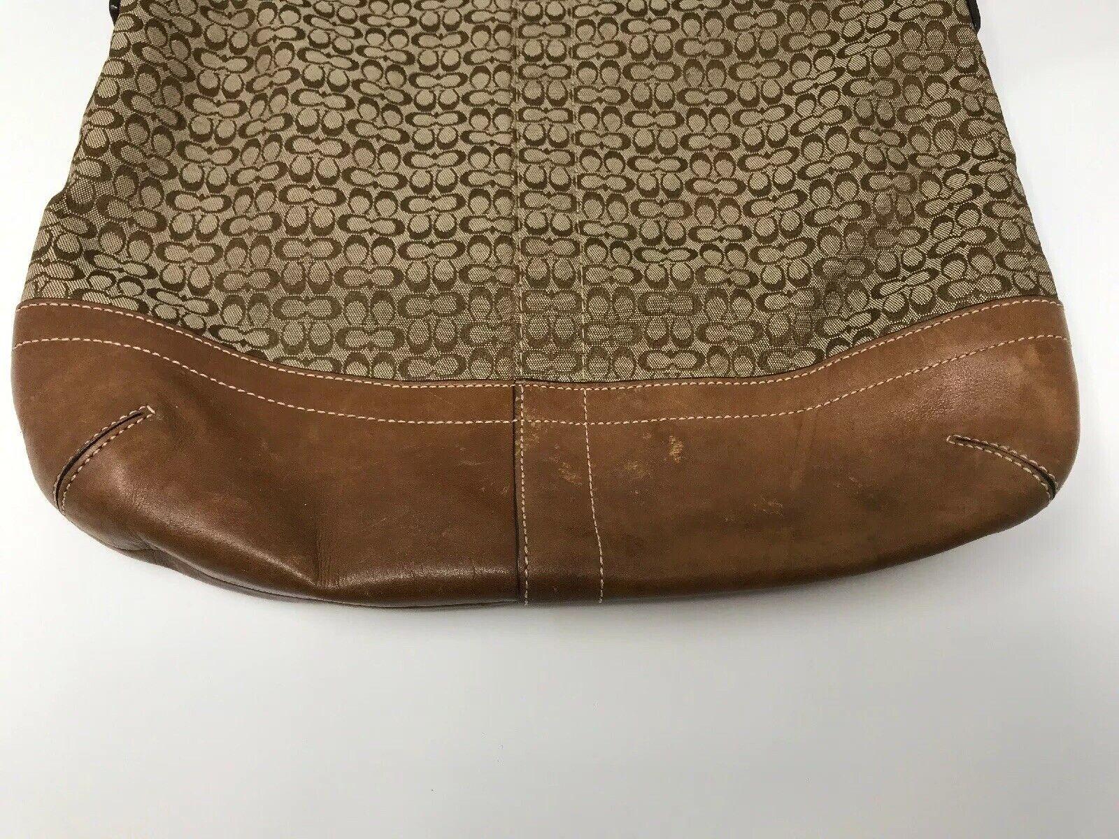 Coach Monogram Canvas Tan Crossbody/Shoulder Bag - image 3