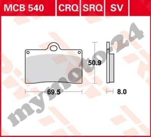 organiques mélange avec ABE Plaquette de frein trw//Lucas mcb540
