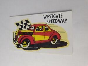 WESTGATE SPEEDWAY NOW PETERBOROUGH SPEEDWAY STICKER DECAL ADVERTISING CAR RACE