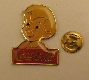 Disney-1986-Coca-Cola-MICHAEL-DARLING-PETER-PAN-vintage-pin-badge-Z4X