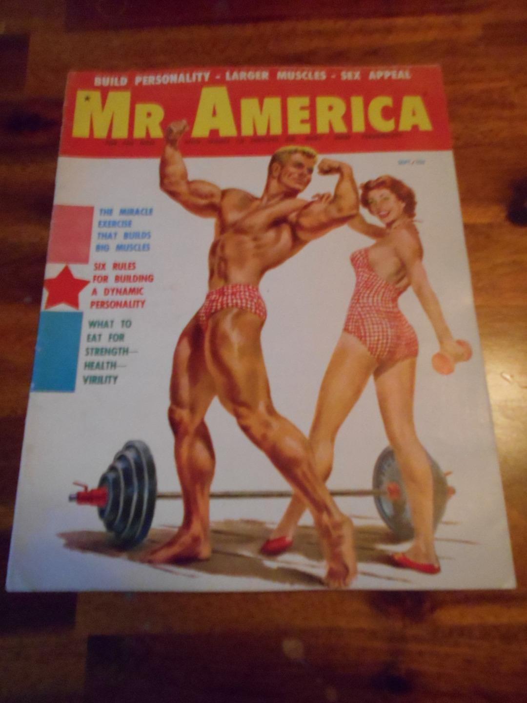 Vintage Mr America Bodybuilding Muscle Magazine Athletic Youth Cover 9 58 Ebay