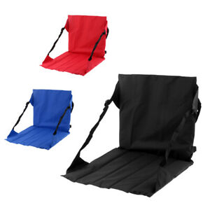 Enjoyable Details About Stadium Seat Portable Roll Up Folding Bleacher Chair Padded Cushion Fishing Ibusinesslaw Wood Chair Design Ideas Ibusinesslaworg