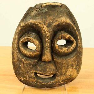 Alte-Afrikanische-Maske-Holz-geschnitzt-African-Mask-Kunsthandwerk-Afrika