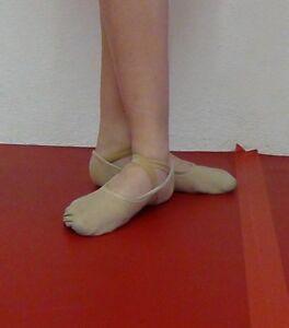 Hochwertige-Ballettschuhe-Ballettschlaeppchen-mit-elastischem-Einsatz-NEU