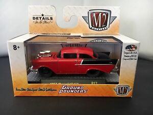 M2 Machines Ground Pounder R18 1957 Chevrolet 150 Bruiser Orange
