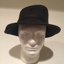 FILIPPO CATARZI Vintage Black Wool Hat Women's One Size Made in Italy