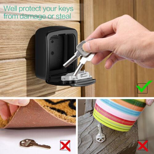 Wall Mounted/_4/&Digit Combination Password Code Key Lock Storage Box Safe
